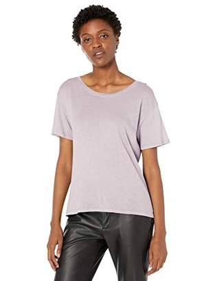 Enza Costa Women's Tissue Cotton Short Sleeve Boy Tee