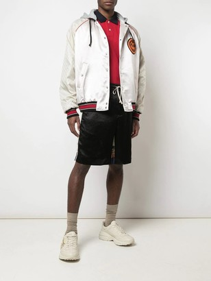 Gucci Acetate Bomber Jacket With Lyre Patch Pink