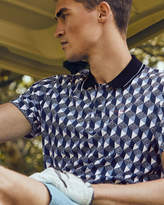 Ted Baker Square geo print polo shirt