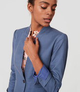 LOFT Basketweave Collarless Blazer