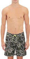 Sundek MEN'S LEOPARD-CAMOUFLAGE SWIM TRUNKS