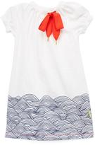 Morgan & Milo Marshmallow & Navy Ruby Dress - Toddler & Girls