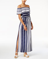 Bar III Off-The-Shoulder Maxi Dress, Created for Macy's