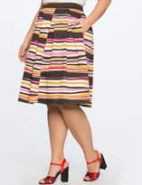 ELOQUII Printed Midi Skirt