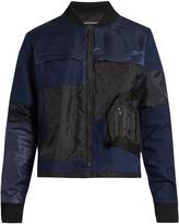 Longjourney Patchwork cotton bomber jacket