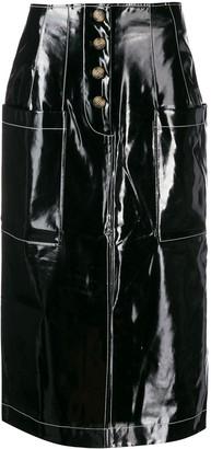 REJINA PYO high-waisted midi skirt
