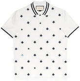 Gucci Cotton polo with bees and stars - men - Cotton/Spandex/Elastane - XS