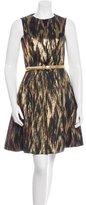 Michael Kors Belted Metallic Dress