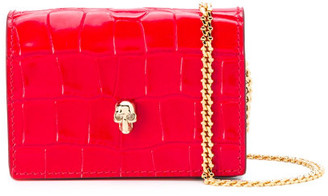 Alexander McQueen Leather Card Holder On Chain