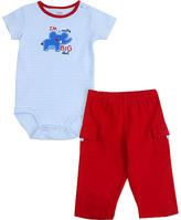 Carters Carter's Elephant 2 Piece Set - Blue & Red (9 Months)