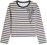 Carven Striped Sweatshirt with Patch