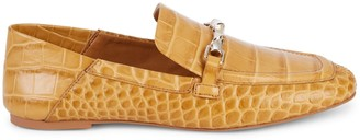 Vince Camuto Perenna Croc-Embossed Leather Loafers