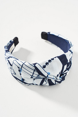 Jennifer Behr Samaya Knotted Headband By in Blue Size ALL