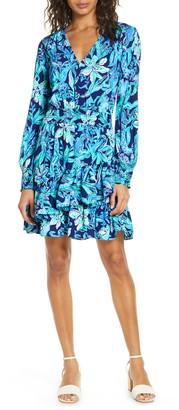 Lilly Pulitzer Cristiana Long Sleeve Faux Wrap Dress