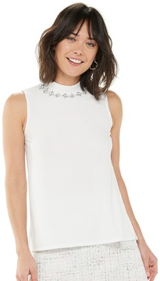 Elle Women's Embellished Mockneck Top