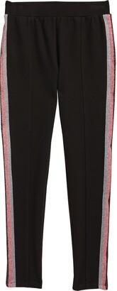 Habitual Ainsley Metallic Stripe Ponte Pants