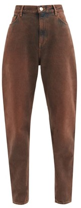 ATTICO High-rise Curved-leg Jeans - Brown