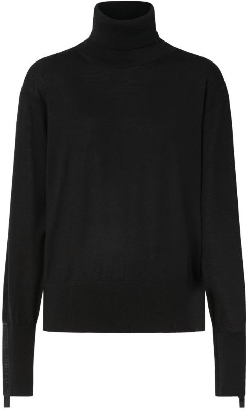 Burberry Wool-Silk Embroidered Rollneck Sweater