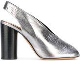 Isabel Marant metallic slingback mules