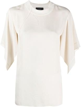 Joseph Baila contrast-stitching blouse