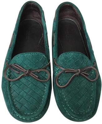 Bottega Veneta Green Suede Flats