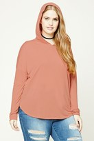 Forever 21 FOREVER 21+ Plus Size Hooded Sweater