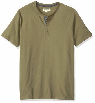Goodthreads Amazon Brand Men's Short-Sleeve Sueded Jersey Henley