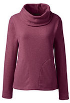 Classic Women's Tall Cozy Fleece Cowlneck Pullover Teal Heather