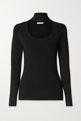 Ninety Percent Cutout Stretch-knit Turtleneck Sweater - Black