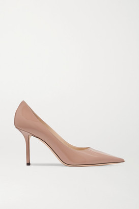 Jimmy Choo Love 85 Patent-leather Pumps - Neutral