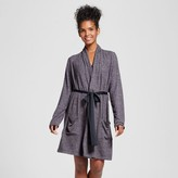 Xhilaration Women's Robe with Satin Sash Black