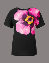 Autograph Floral Print Short Sleeve T-Shirt