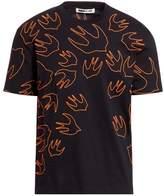Mcq Alexander Mcqueen Outlined Swallow Cotton T-Shirt