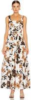 Nicholas Tiered Maxi Dress in Sepia Multi   FWRD