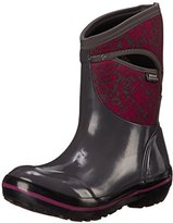 Bogs Women's Plimsoll Quilted Floral Mid Winter Snow Boot