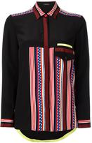 Versace Race Stripes shirt - women - Silk - 40