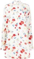 Ermanno Scervino floral-print silk shirt dress