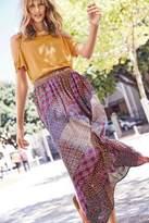 Next Womens Orange Geo Print Maxi Skirt