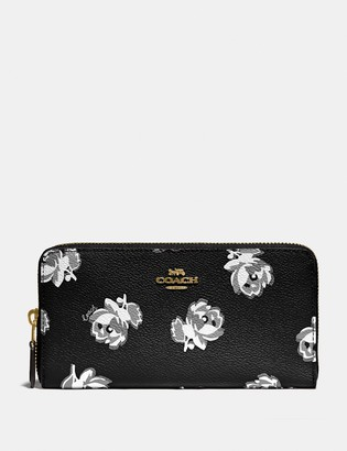 Coach Accordion Zip Wallet With Floral Print