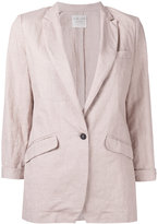 Forte Forte three-quarters sleeve blazer - women - Cotton/Linen/Flax/Cupro/Viscose - I