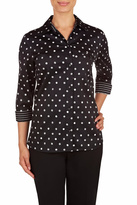 Allison Daley Black/White Dot Blouse