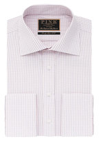 Thomas Pink Erber Check Slim Fit Double Cuff Shirt