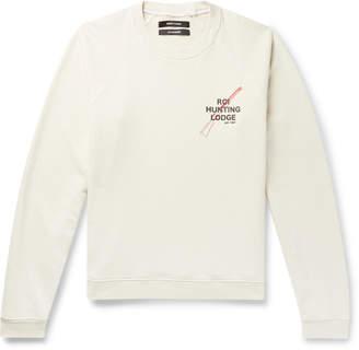 Off-White Reese Cooper® Reese Cooper - Printed Loopback Cotton-Jersey Sweatshirt - Men