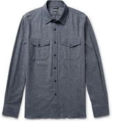 Todd Snyder Mélange Silk, Cotton, Wool and Cashmere-Blend Shirt