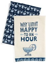 Primitves By Kathy Happy Hour Set Of 2 Dish Towels