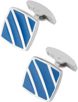 Bugatchi Square Cuff Links w/ Enamel Stripes