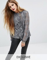Religion Ruffle Shirt In Antique Lace