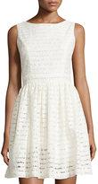 philosophy Striped Lace Sleeveless Dress, Ivory