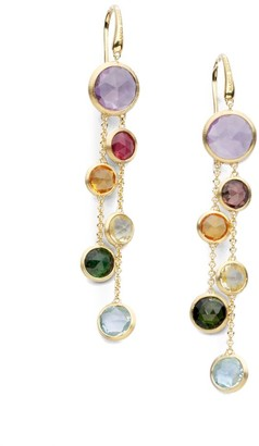 Marco Bicego Jaipur Semi-Precious Multi-Stone & 18K Yellow Gold Drop Two-Strand Drop Earrings