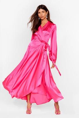 Nasty Gal Womens Steal the Spotlight Satin Dress - Pink